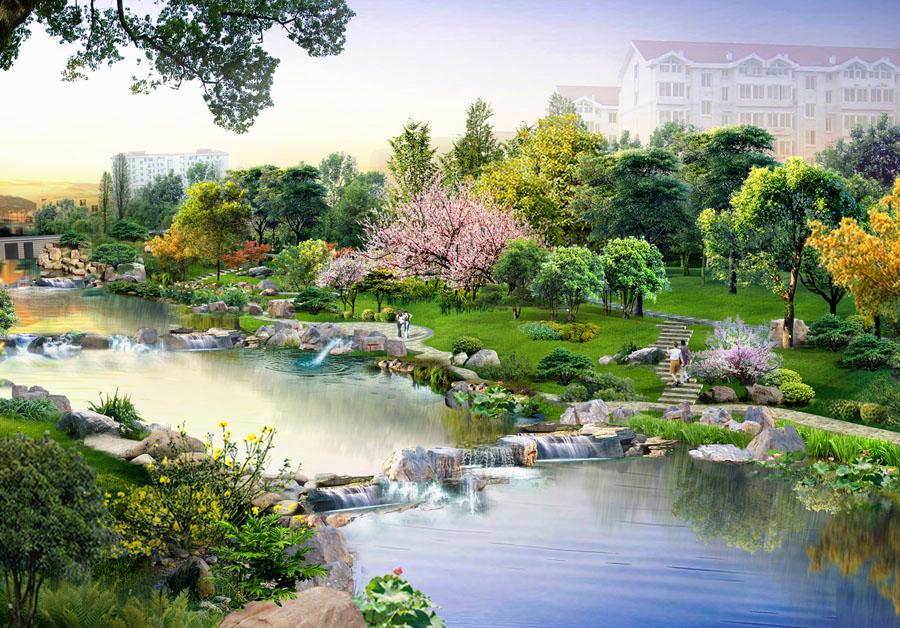 逛荡河局部河道景观设计